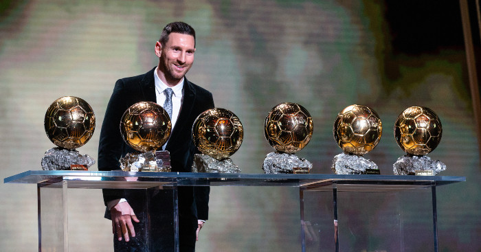 Barcelona and Argentina superstar Lionel Messi has won a record six Ballon d'Or trophies, awarded annually by France Football ©Getty Images