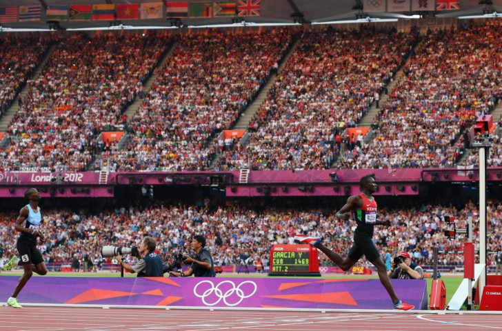 Nijel Amos became Botswana's first-ever Olympic medallist by claiming silver in the 800m at London 2012