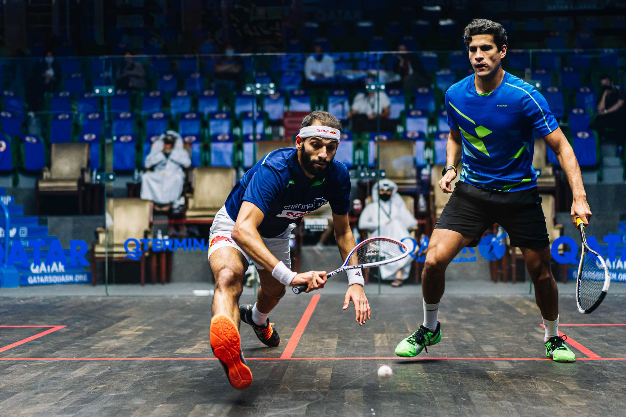 Ibrahim shocks top seed ElShorbagy at PSA Qatar Classic