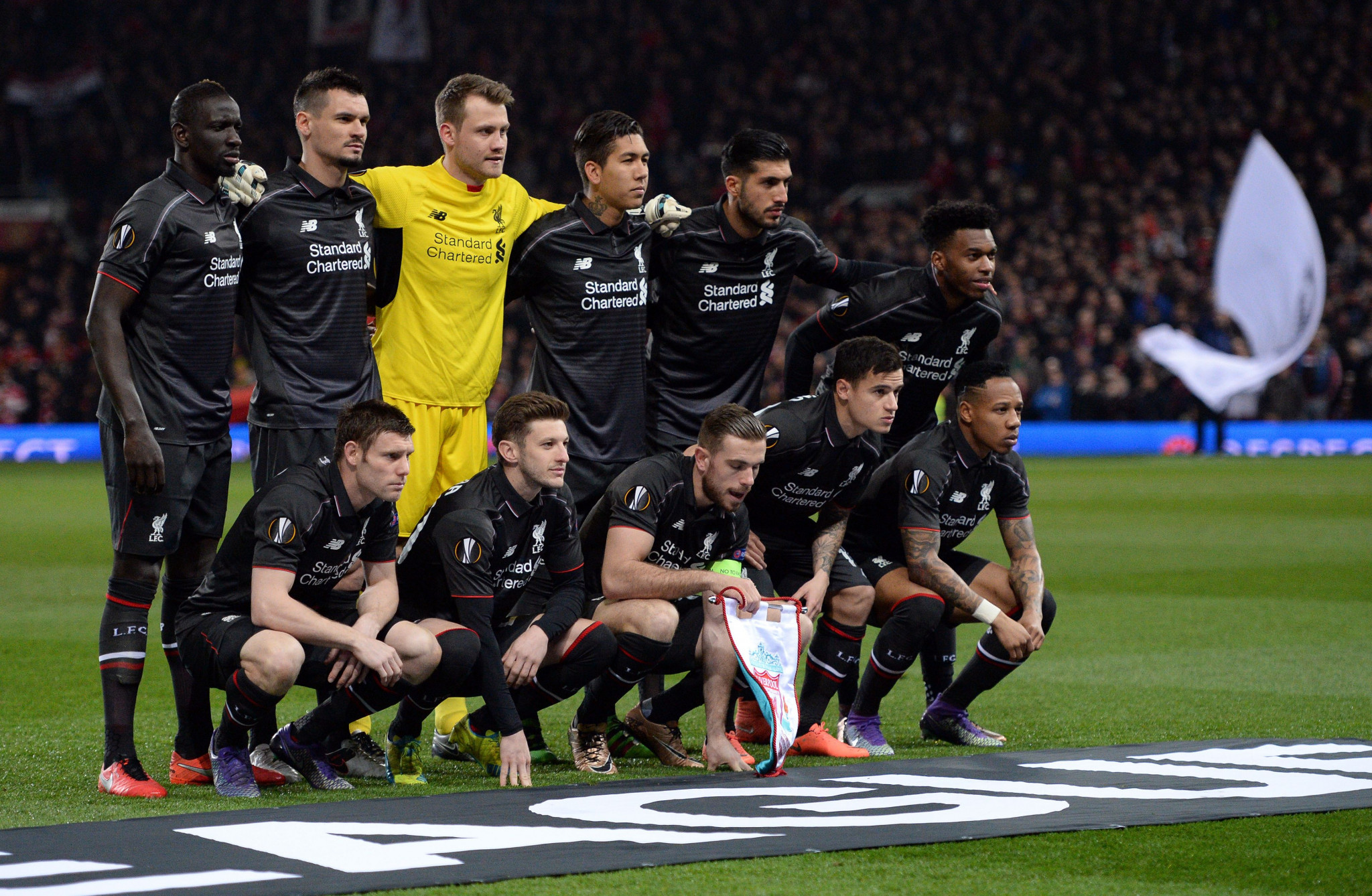 The dispute stemmed from an anti-doping test taken by Mamadou Sakho, far left, following Liverpool's Europa League victory over rivals Manchester United in March 2016 ©Getty Images