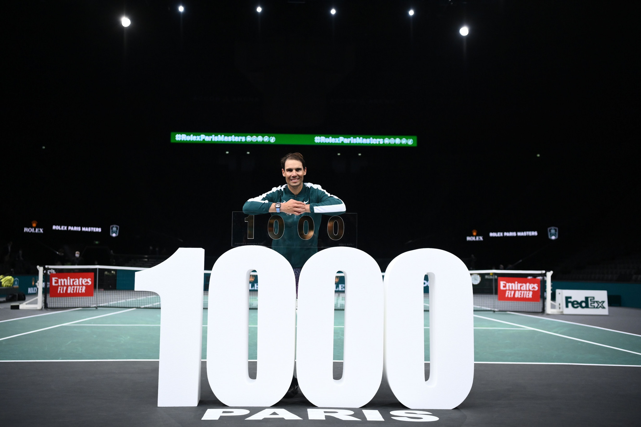 Rafael Nadal has the best winning percentage of all players to reach 1,000 ATP Tour wins ©Getty Images
