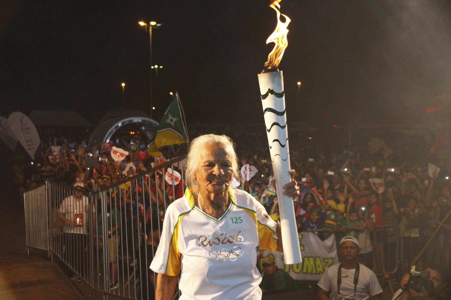 If Kane Tanaka carries the Torch as part of next year's rescheduled Relay, she would succeed Aida Mendes, 107, as the oldest Torchbearer ©Rio 2016