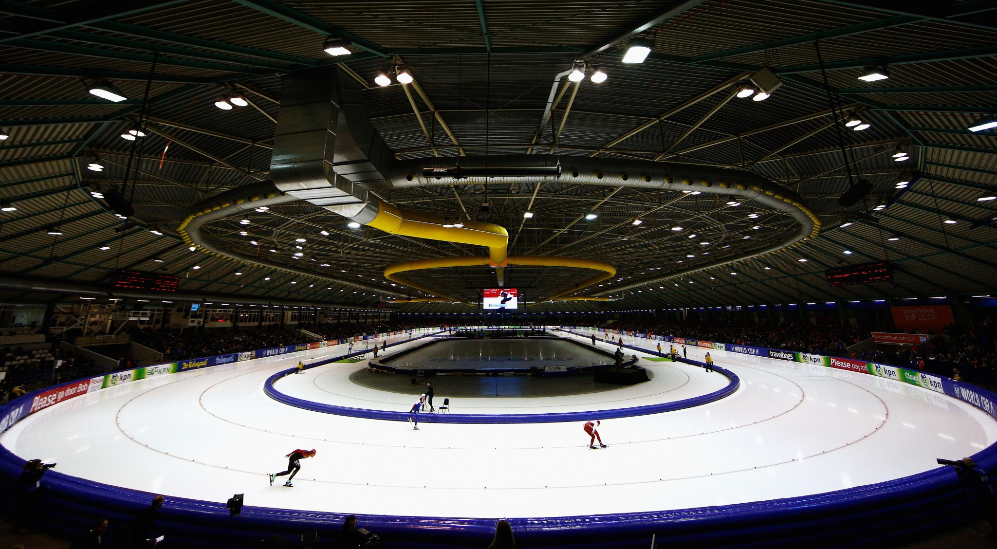 Heerenveen is set to stage two World Cup events after the European Speed Skating Championships ©Getty Images