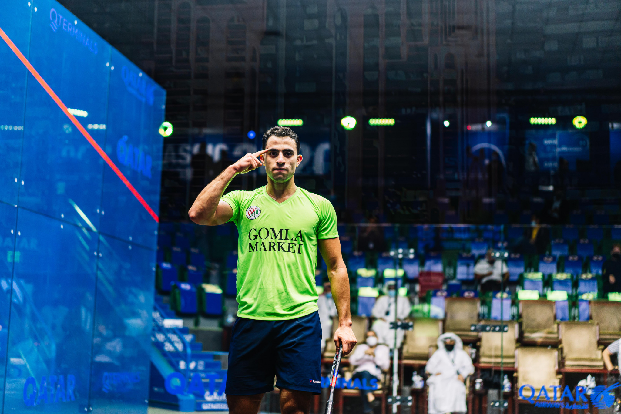 World number one Farag sets up semi-final with world champion Momen at PSA Qatar Classic