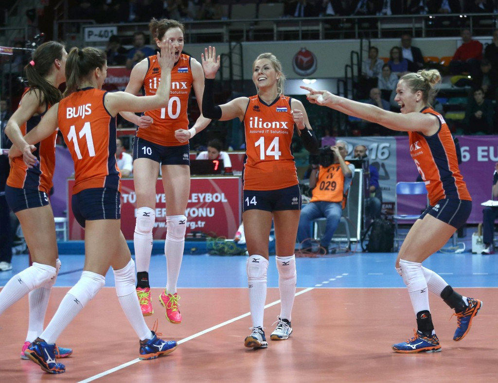 Dutch move to brink of Rio 2016 after reaching final of Women's European Olympic Volleyball Qualification tournament but hosts bow out