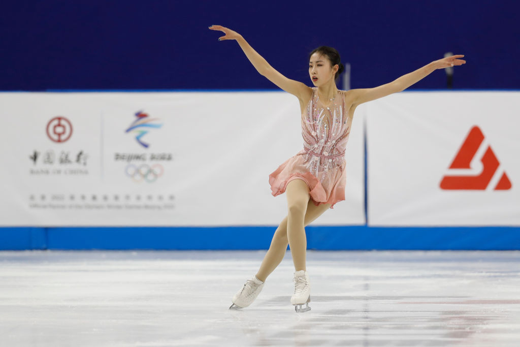 Chen Hongyi leads at the halfway stage of the women's competition at the Cup of China ©Getty Images