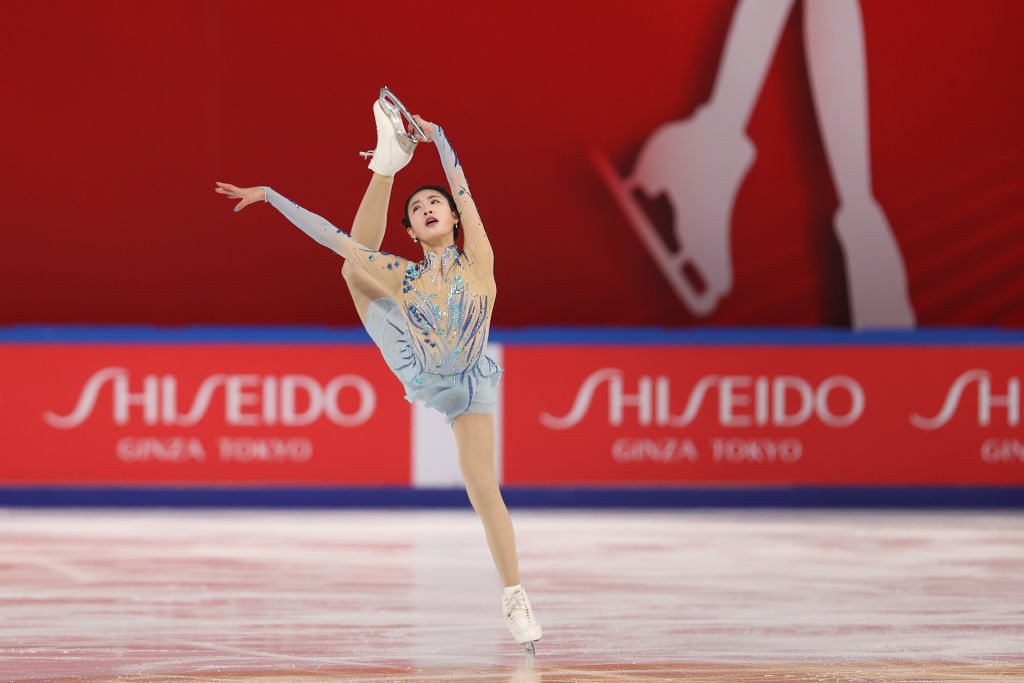 Chen Hongyi took gold in the women's event with a superb performance ©ISU