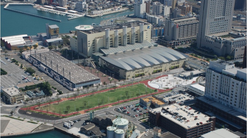 The West Japan Exhibition Centre is set to be the venue for the 2021 Rhythmic Gymnastics World Championships ©FIG