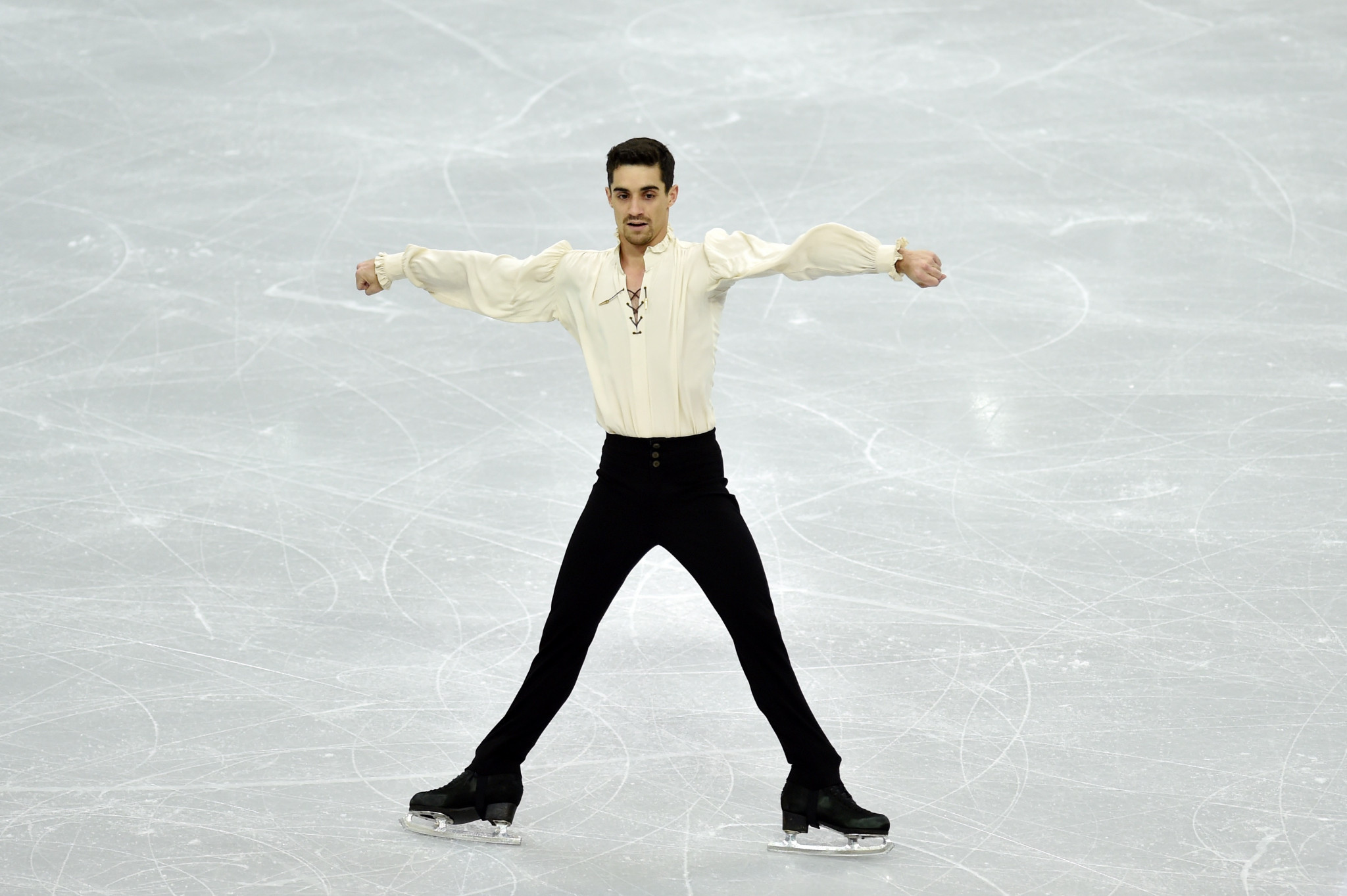 Javier Fernandez was among the stars performing in Moscow ©Getty Images