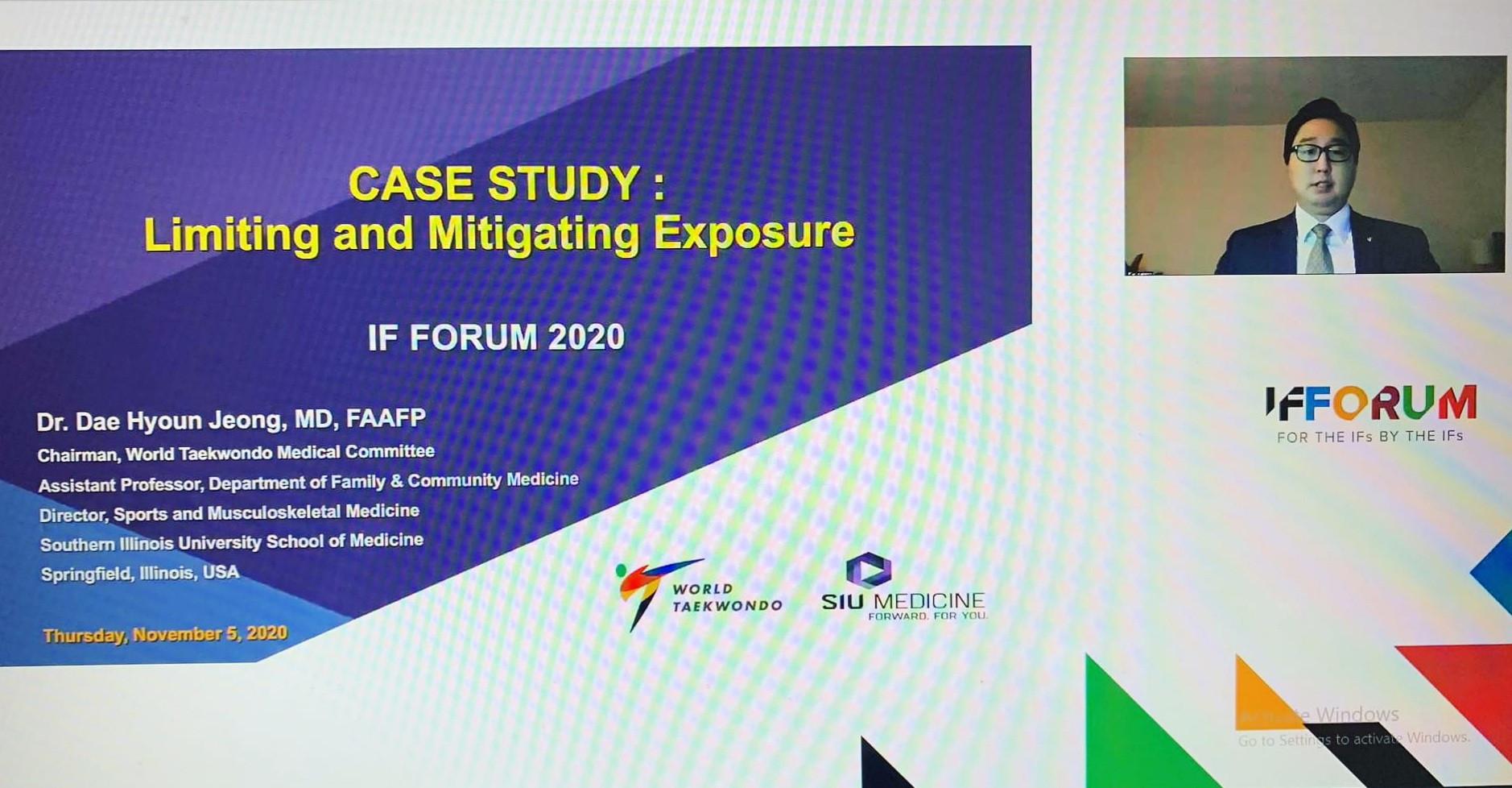 World Taekwondo medical chief presents COVID case study at IF Forum