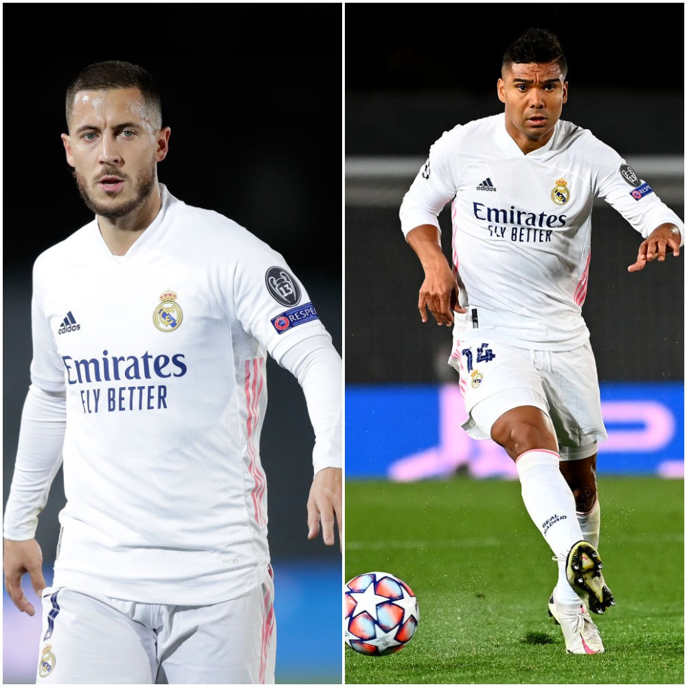 Hazard and Casemiro doubtful for internationals after testing positive for COVID-19