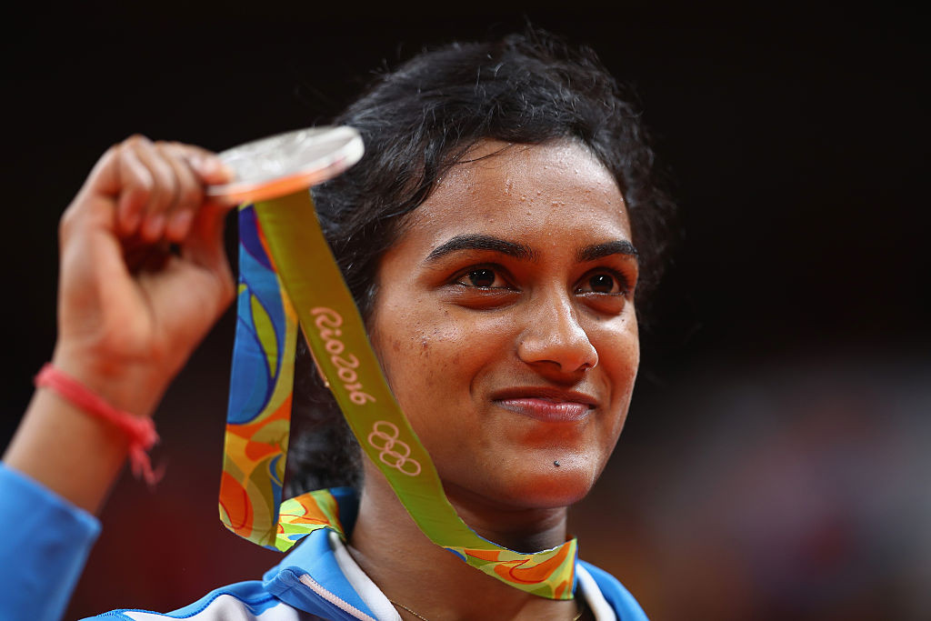 PV Sindhu won the silver medal in the women's tournament at Rio 2016 ©Getty Images