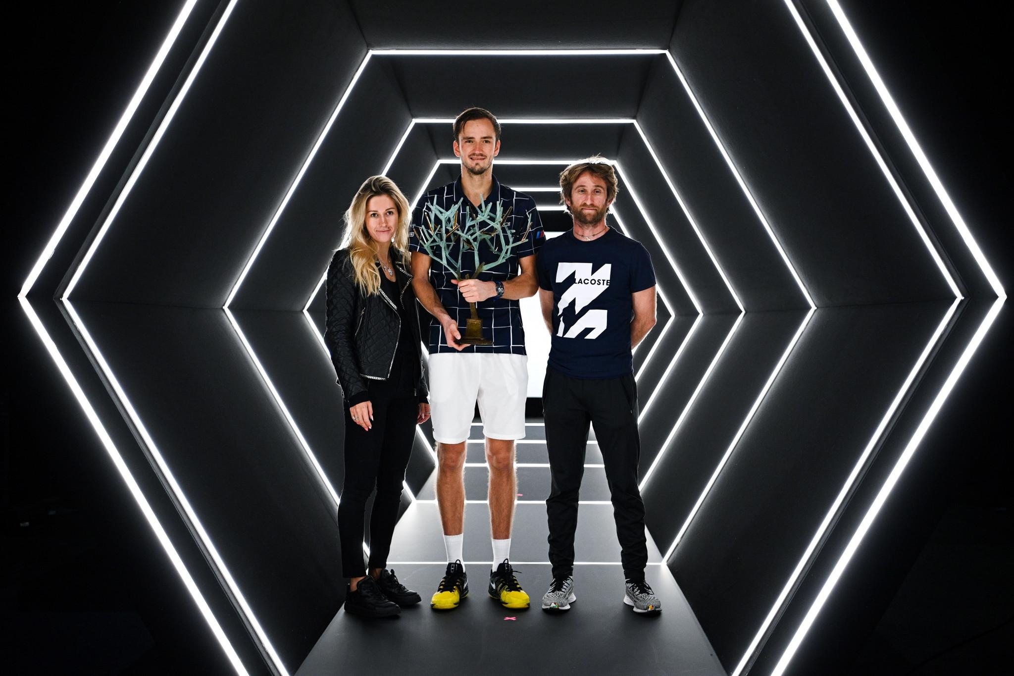 Gutsy Medvedev ends Zverev's winning run to clinch Paris Masters title