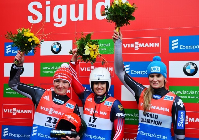 Ivanova breaks track record twice on way to Luge World Cup victory in Sigulda