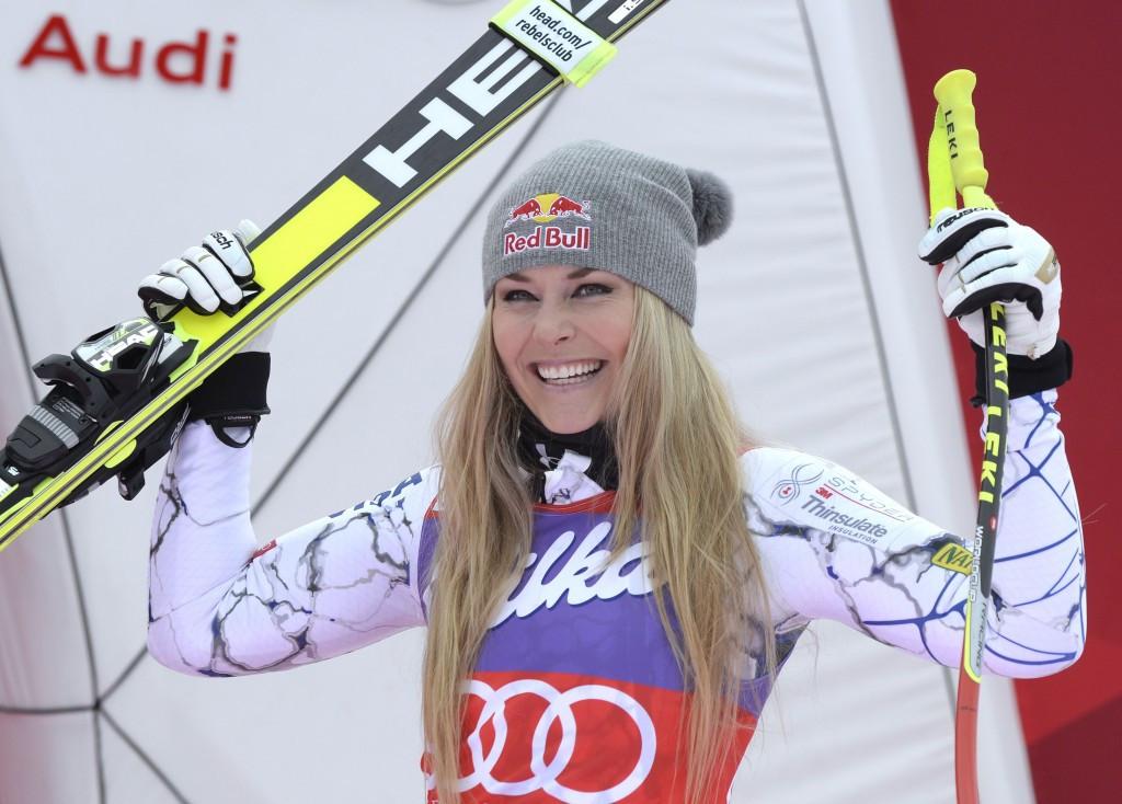 Vonn equals World Cup downhill record with victory in Altenmarkt-Zauchensee
