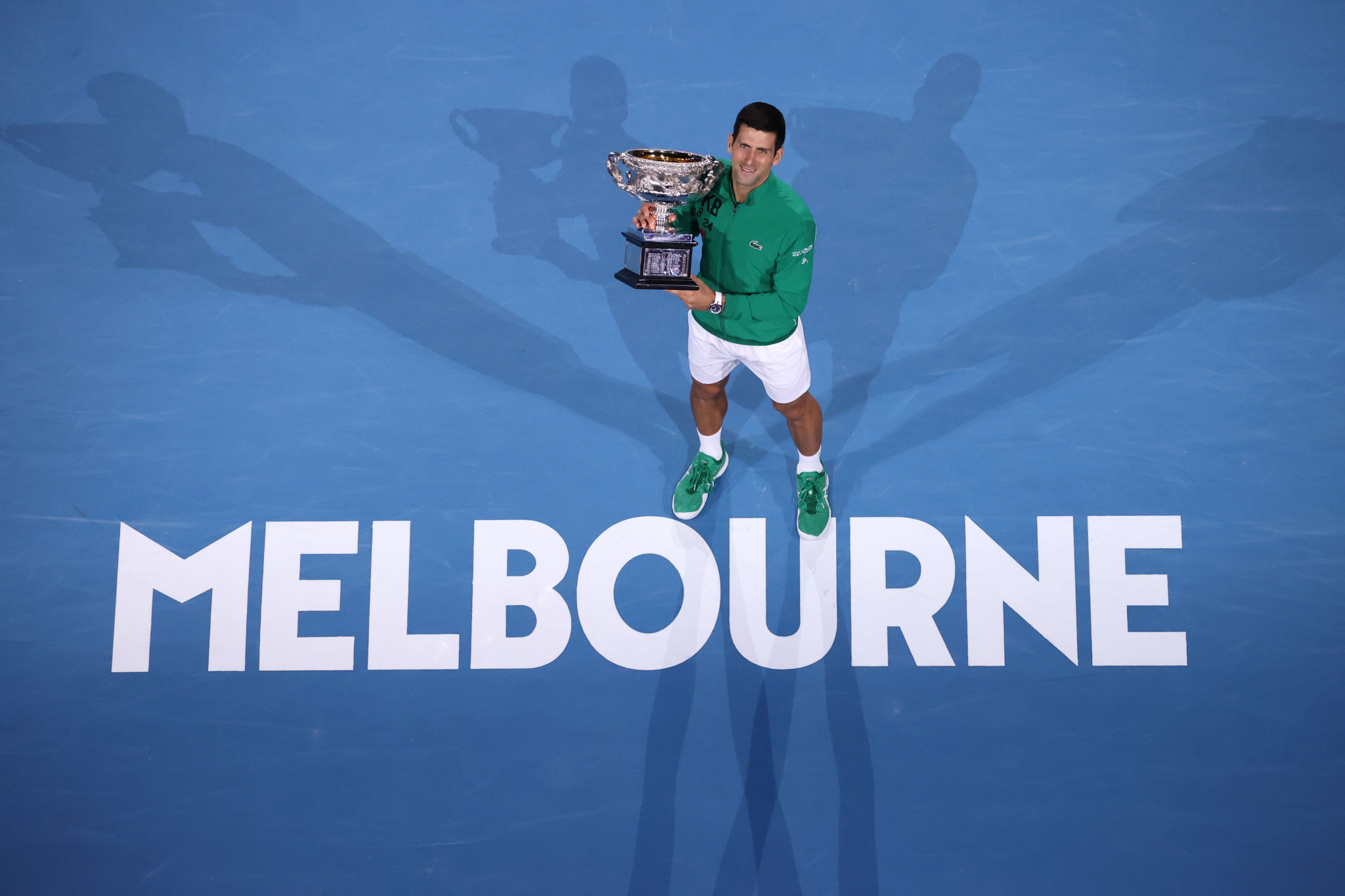 Novak Djokovic has won a record eight Australian Open titles and is due to defend the title again next month ©Getty Images