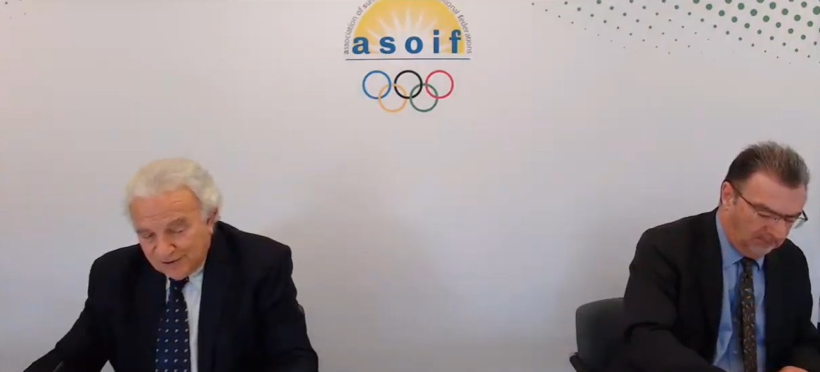 ASOIF President Francesco Ricci Bitti and executive director Andrew Ryan believe weightlifting will feature at Paris 2024 ©ASOIF/YouTube
