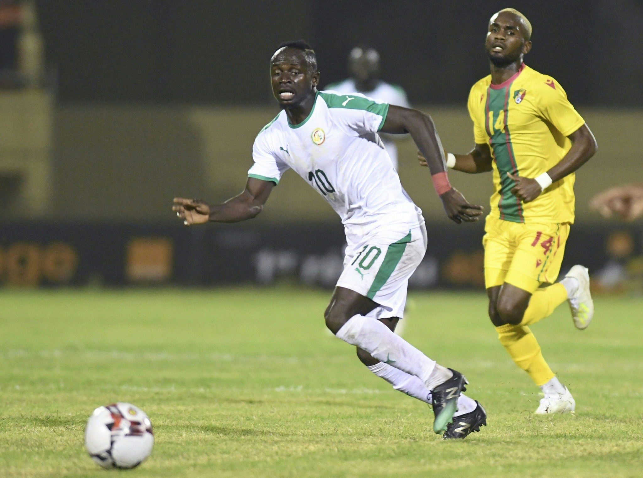 Sadio Mané in action for Senegal, who were forced to call off their home friendly against Mauritania due to coronavirus concerns last month ©Getty Images