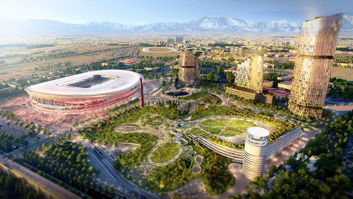 The Rings of Milano is one of two shortlisted proposals for the new stadium ©Nuovo Stadio Milano