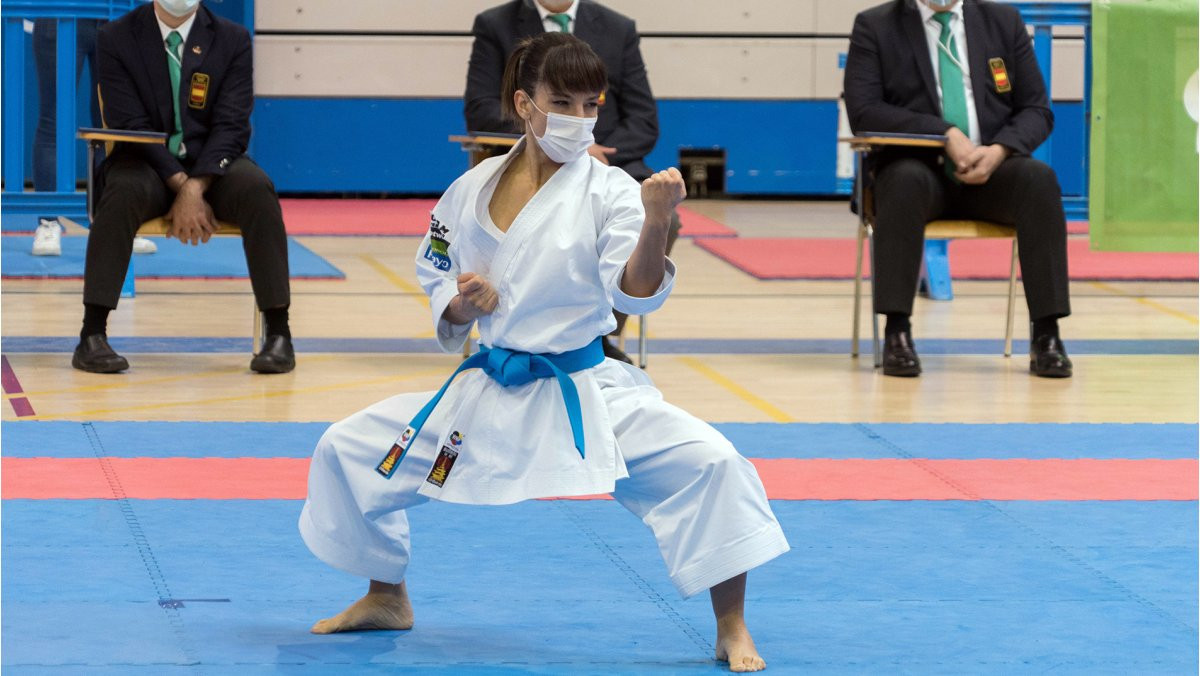 Sandra Sánchez enjoyed a successful return to competition in Spain as she won both events ©WKF