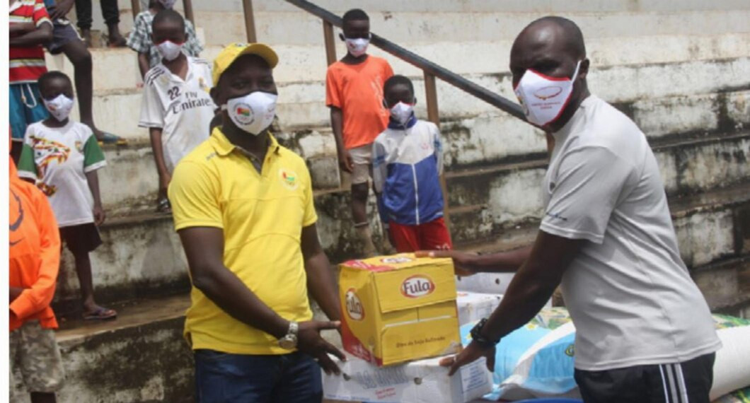 National Olympic Committee of Guinea-Bissau donates gear to help fight COVID