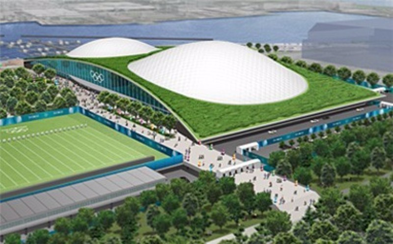 Wheelchair fencing is set to be held at the Youth Plaza in the Tokyo Bay zone in 2020, shown here in a projection ©Tokyo 2020