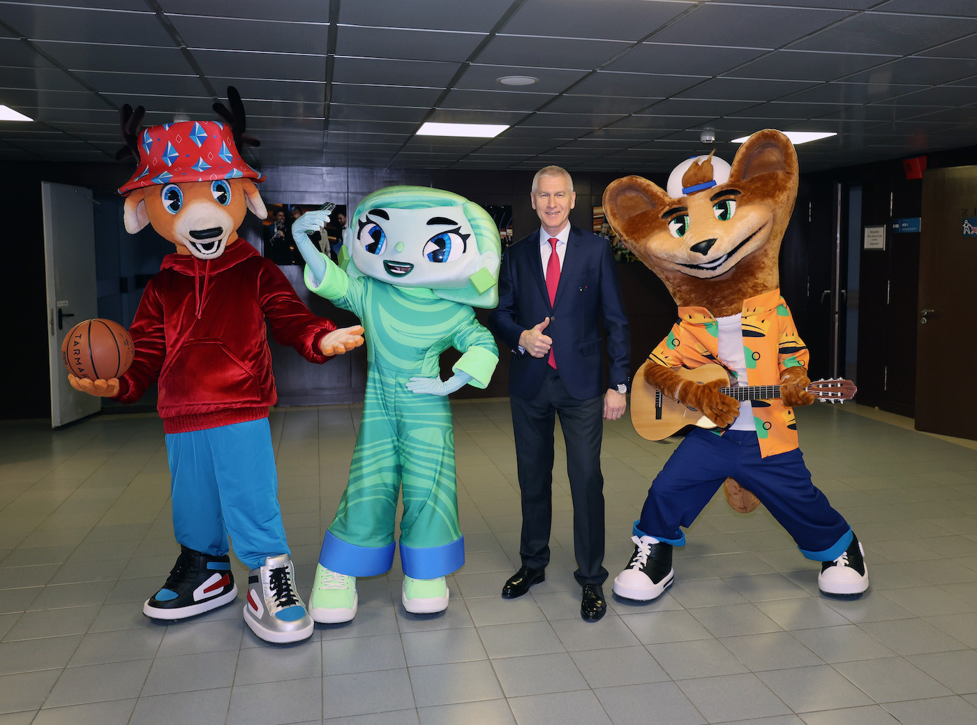 Yaggy, Heaty and Cedry unveiled as mascots for Yekaterinburg 2023
