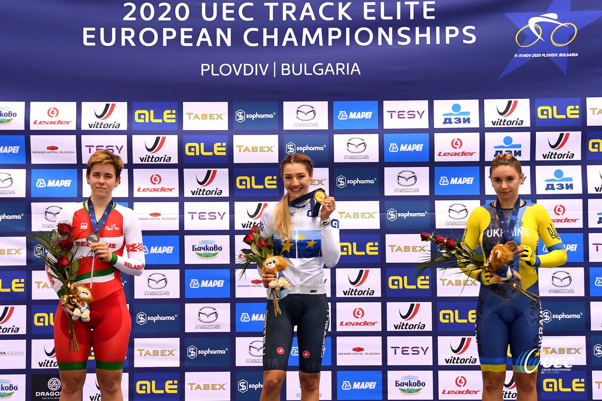 Russia take team sprint titles on opening day of UEC Elite Track European Championships