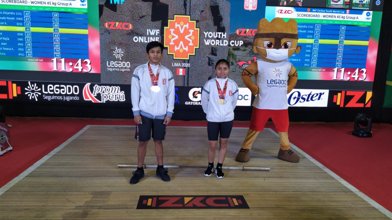 Organisers Peru top medal table on day one of IWF Online Youth World Cup