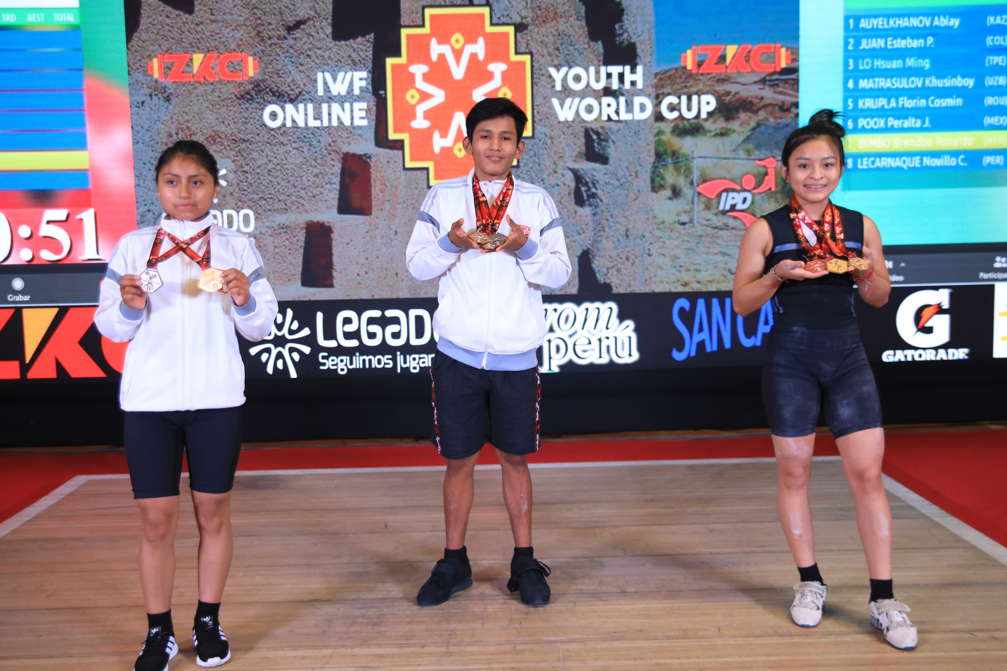 Virtual organisers Peru on top on first day of IWF Online Youth World Cup