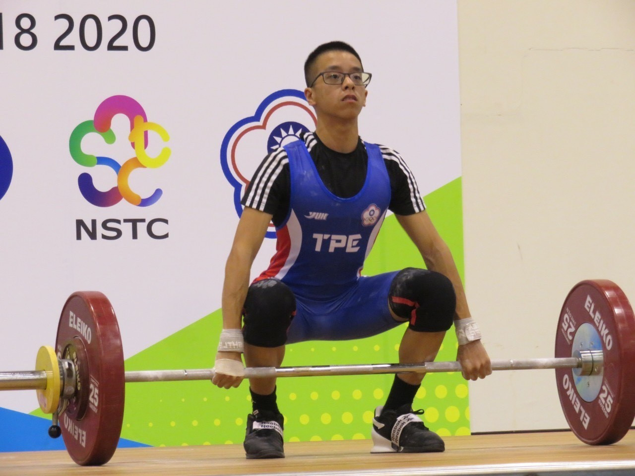 Chinese Taipei athletes competed past midnight local time ©Chinese Taipei Weightlifting