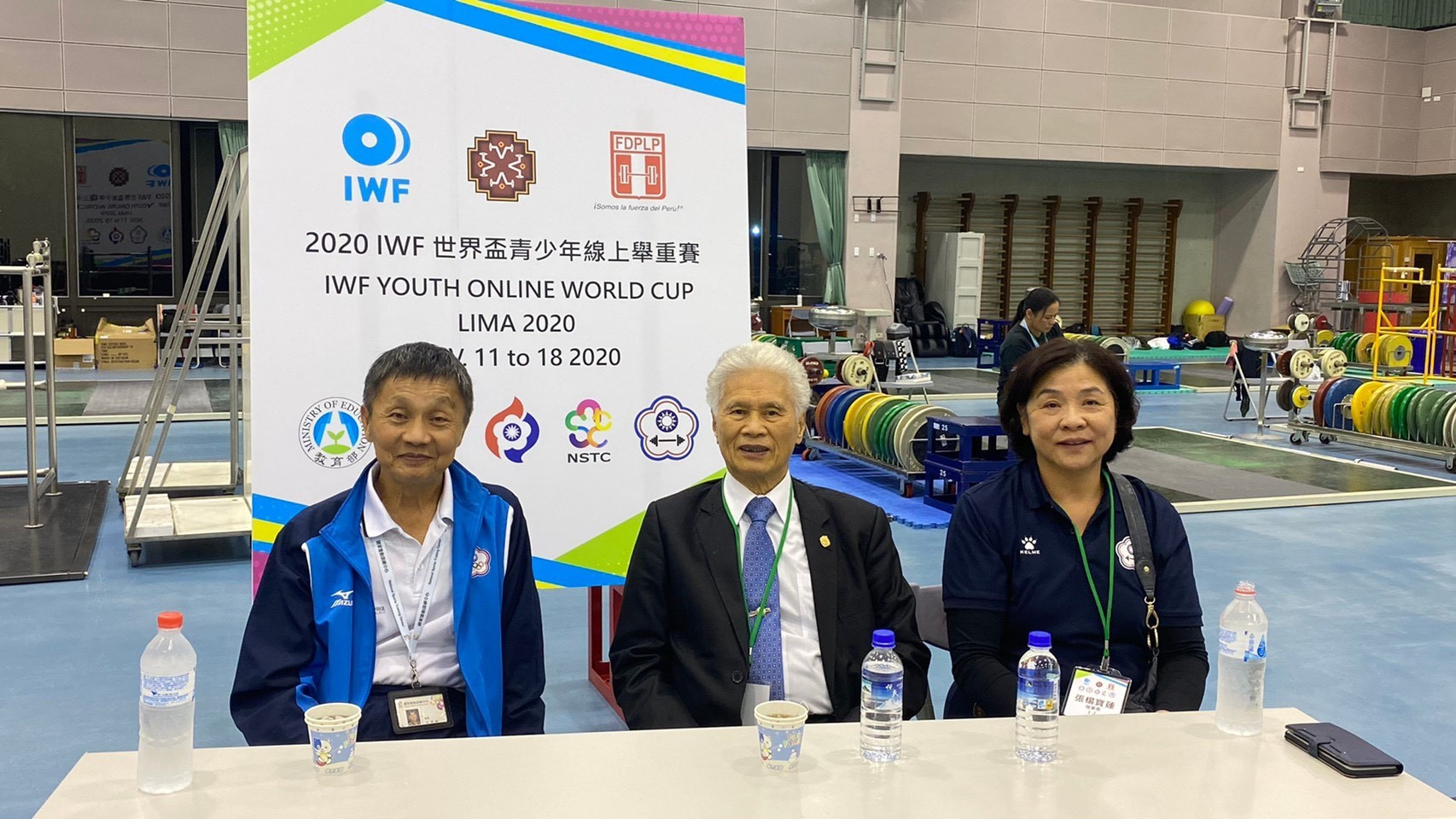 Officials in Taiwan worked through the darker hours of the night to deliver their livestream ©Chinese Taipei Weightlifting