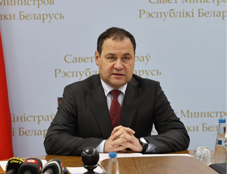 "Roman Golovchenko has claimed boycott threats are ""untenable"" ©BelTA/Government of Belarus"