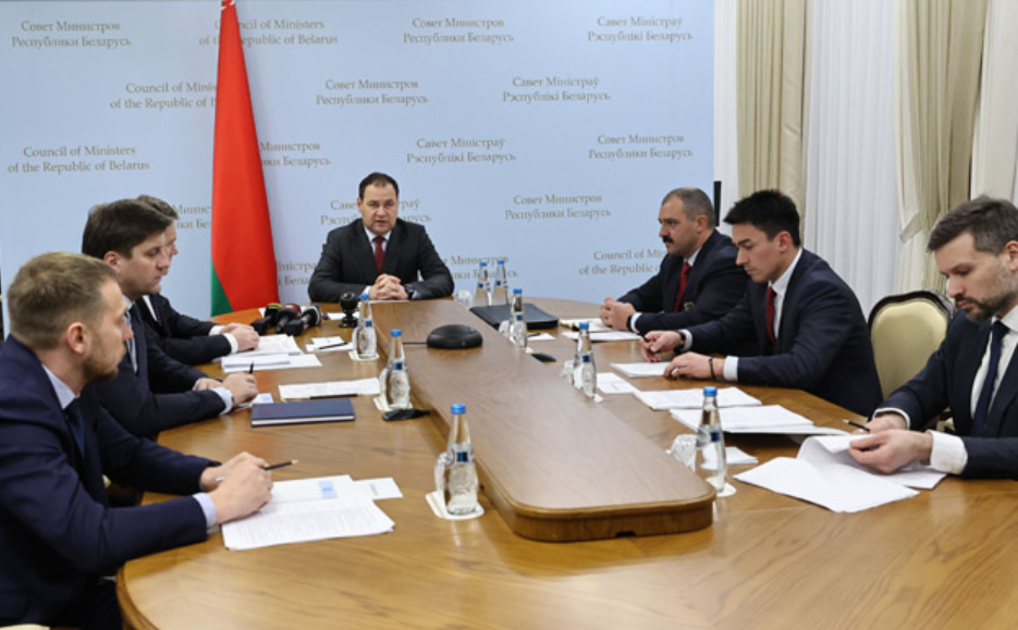 Belarus Prime Minister Roman Golovchenko held a meeting with members of the Organising Committee ©BelTA/Government of Belarus