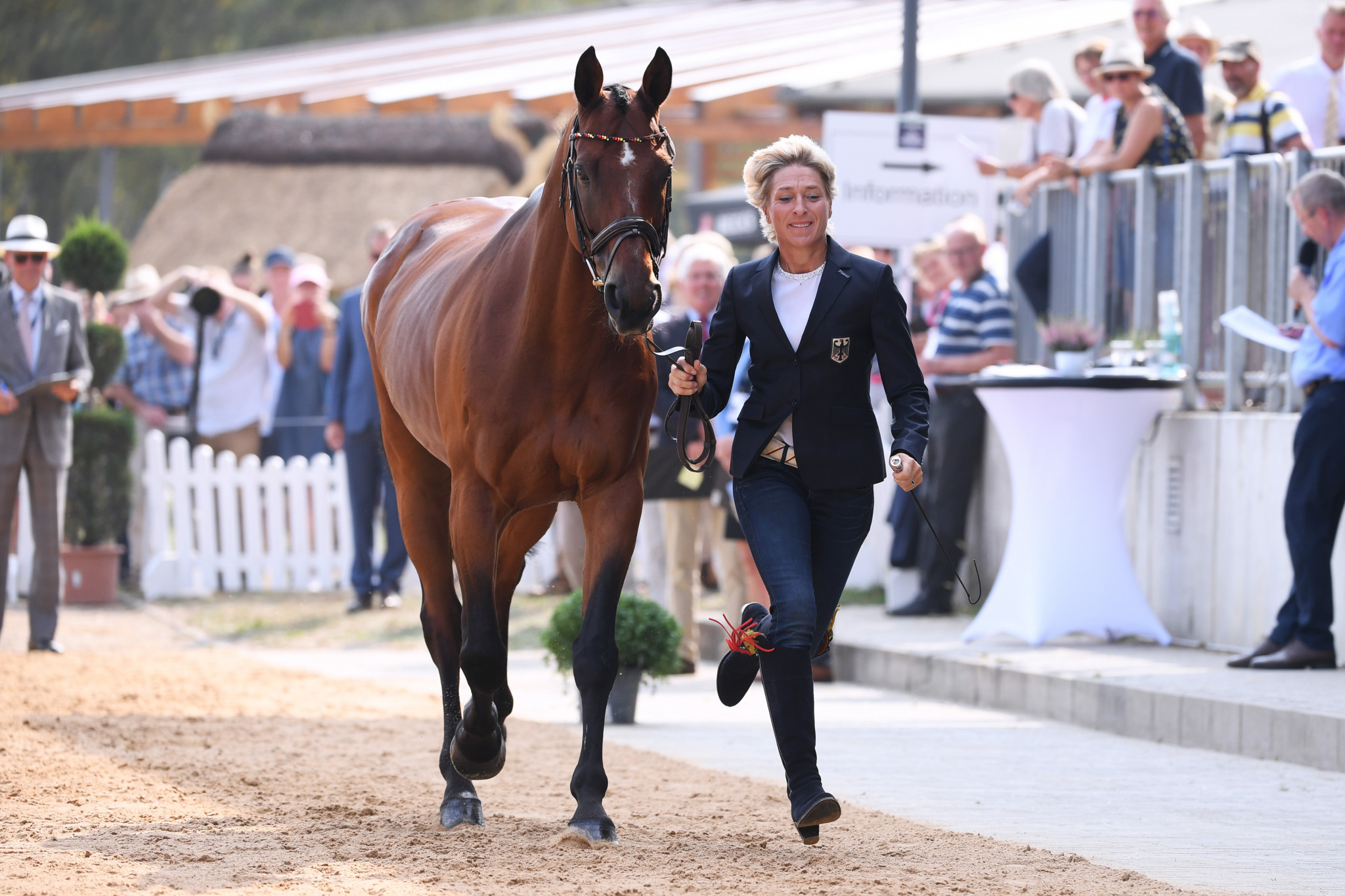 German eventer Ingrid Klimke won the best athlete award last year ©Getty Images