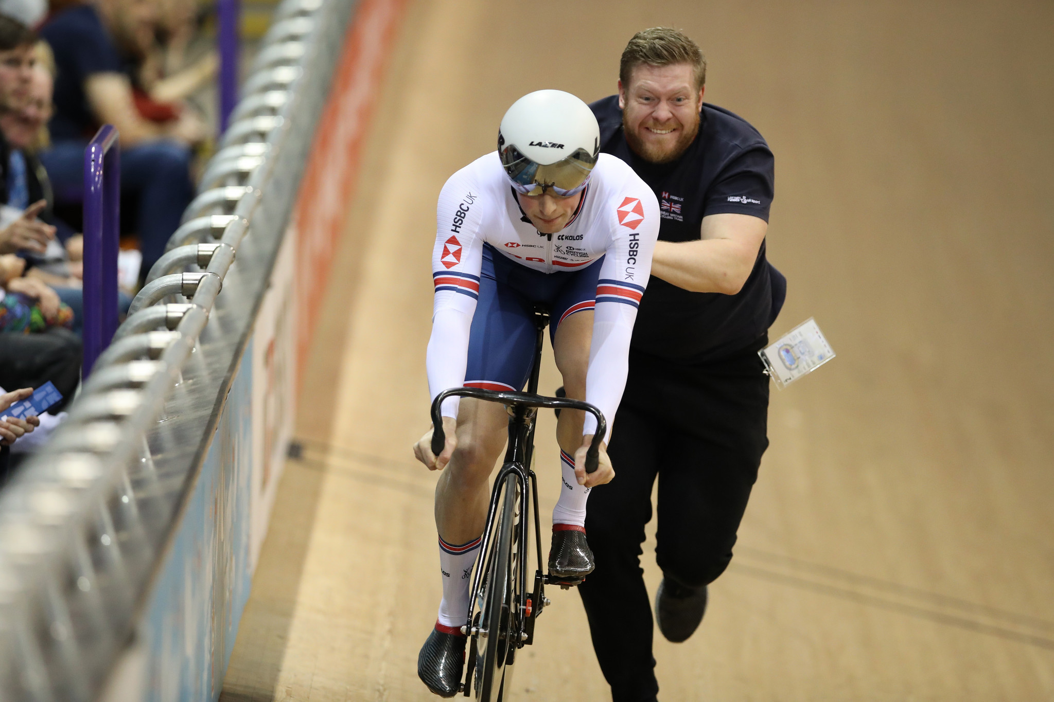Sprint coach Kevin Stewart, right, has been sacked by British Cycling ©Getty Images