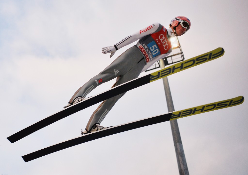 Severin Freund helped hosts Germany to victory in the men's team event at the FIS Ski Jumping World Cup in Willingen ©Getty Images