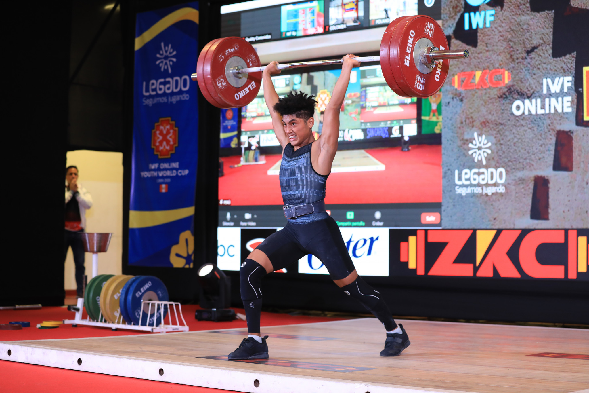 Peru failed to add to their medal tally on day two with some less experienced athletes gaining some experience on the big stage ©Peru Weightlifting