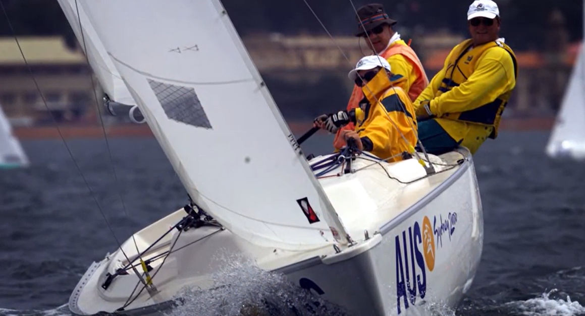 The winning Sonar crew at the Sydney 2000 Paralympics have been inducted into the Australian Sailing Hall of Fame for 2020 ©Australian Sailing