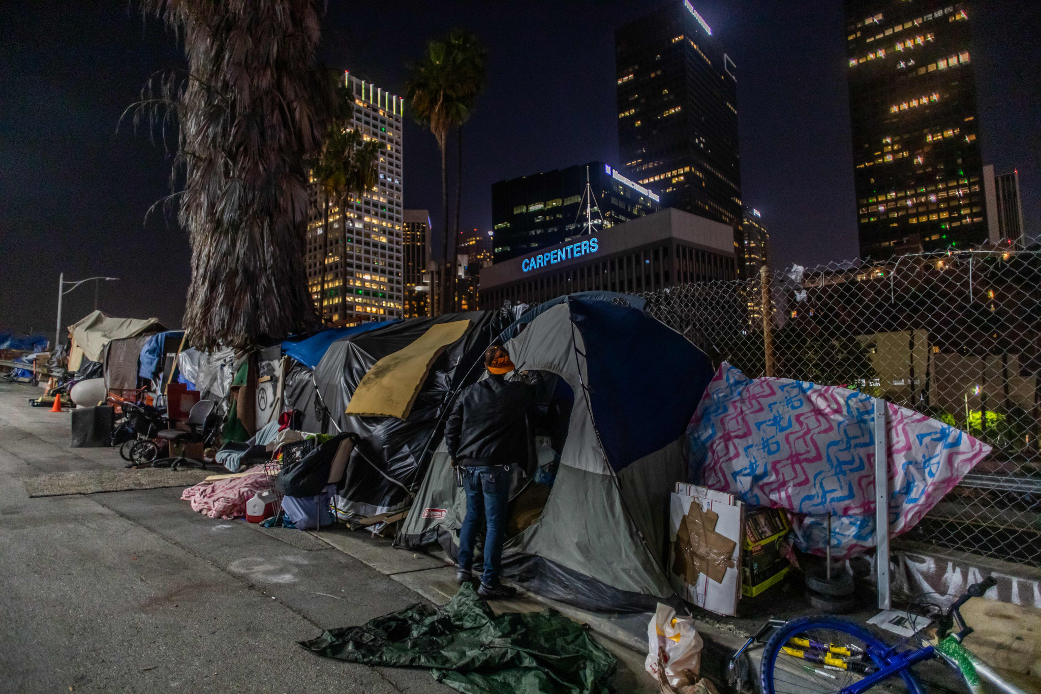 It is estimated that 60,000 people a night are homeless in Los Angeles ©Getty Images