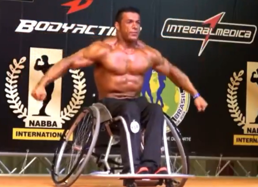Fears have been expressed for the safety of disabled Iranian bodybuilder Reza Tabrizi ©Twitter