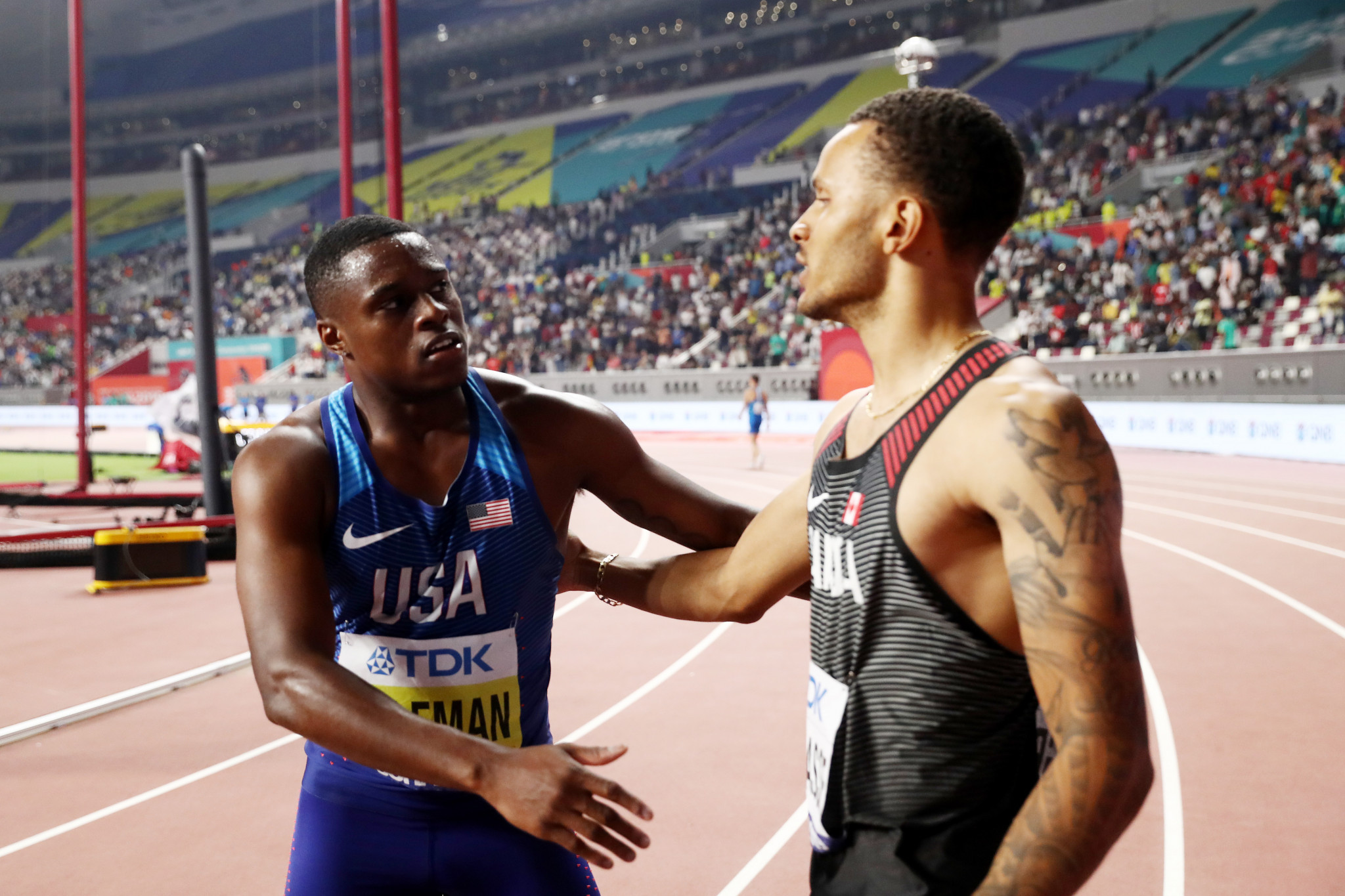 De Grasse disappointed he will not race banned Coleman at Tokyo 2020