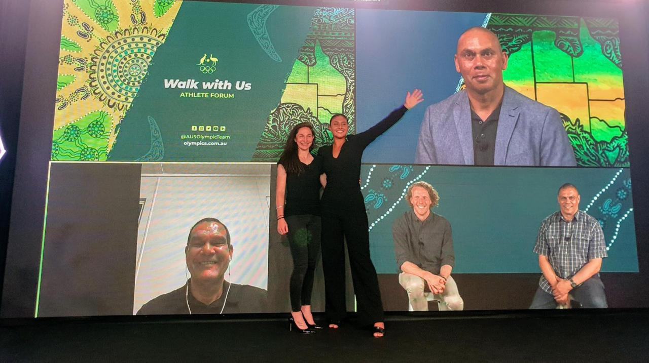 AOC's Walk With Us forum shares indigenous stories and history with Olympians