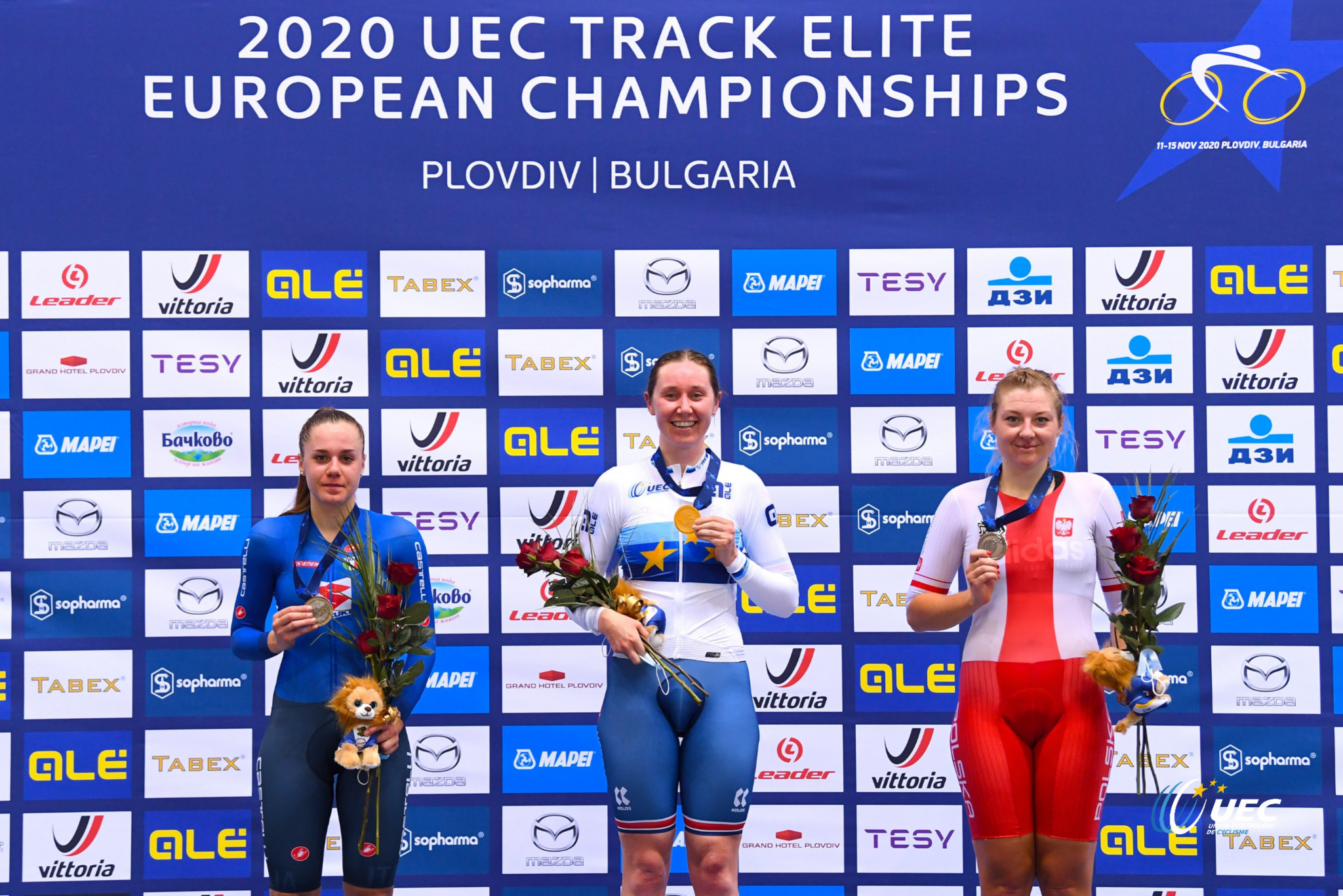 Britain retain place at top of UEC Elite Track European Championships medal table after Archibald gold