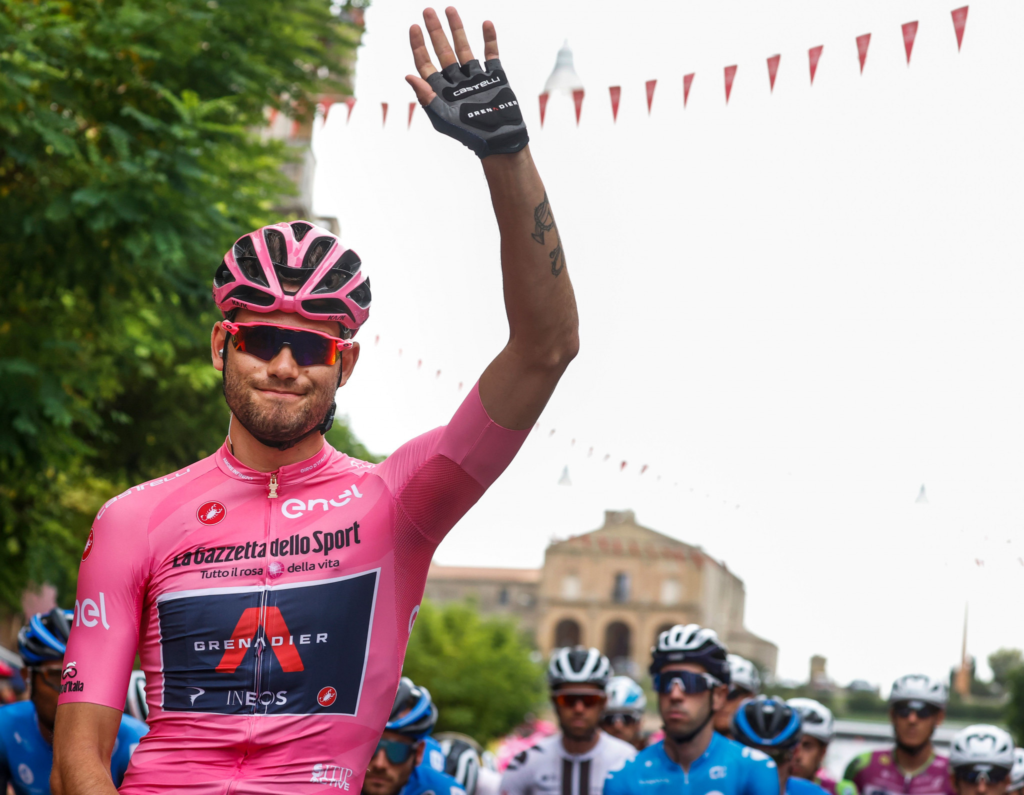 Filippo Ganna won four stages at this year's Giro d'Italia and wore the race leader's jersey in the early stages ©Getty Images