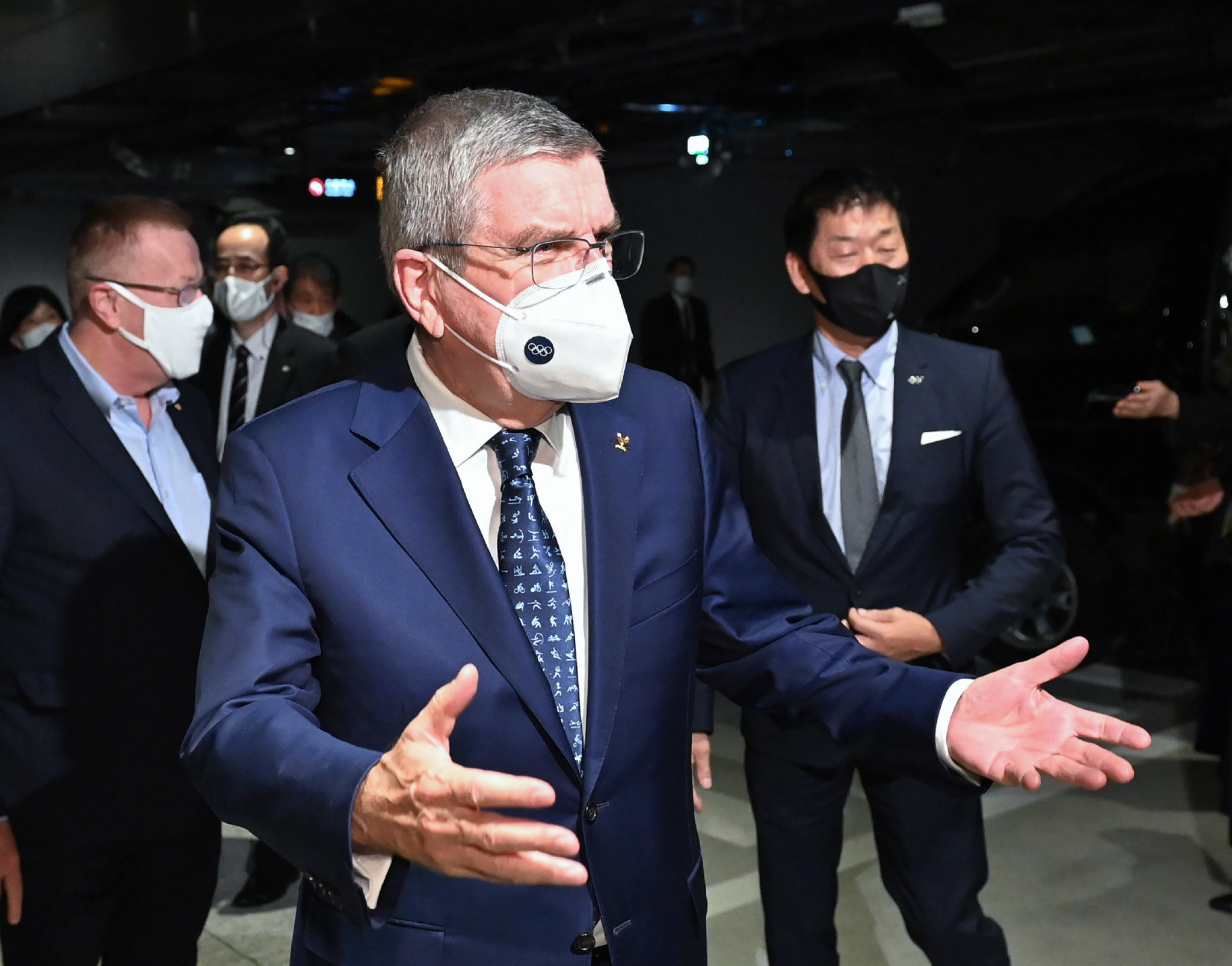 Thomas Bach is in Tokyo, where he will meet political leaders and see Games venues ©Getty Images