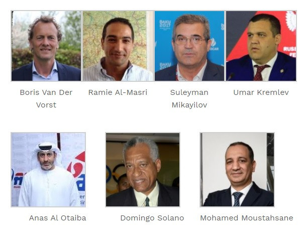 Seven candidates are standing to become AIBA President ©EUBC