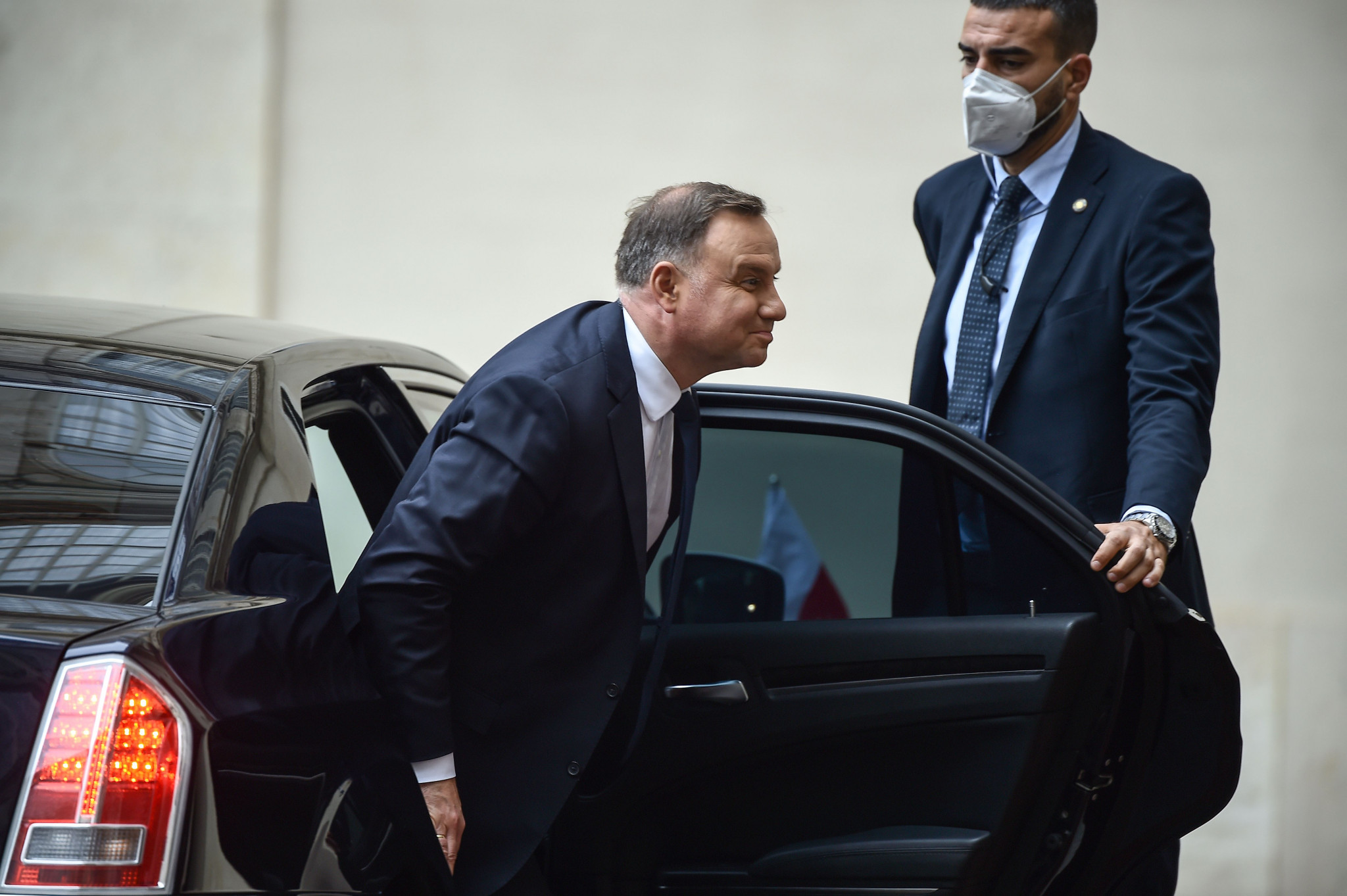 """Poland President Andrzej Duda has said there could be ideological differences with Joe Biden's """"left-liberal"""" party ©Getty Images"""