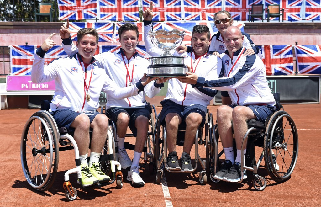 Great Britain share European wheelchair tennis award with The Netherlands after golden 2015