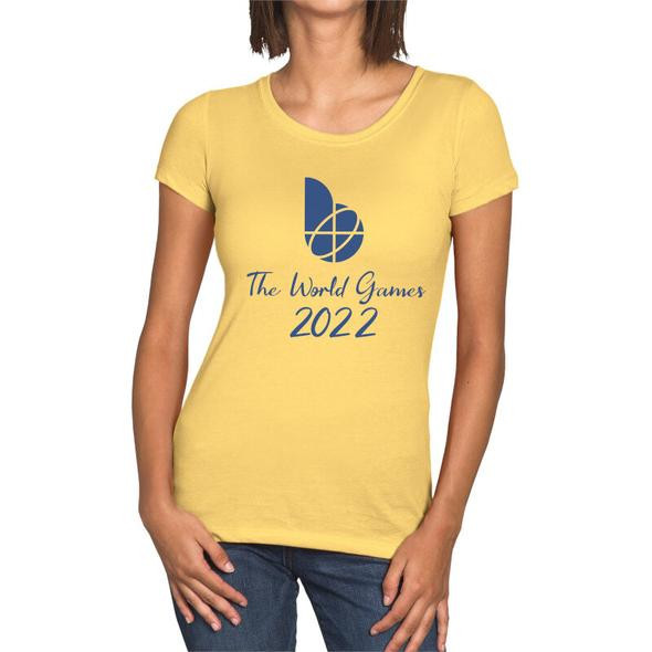 A range of T-shirts is among the items being sold at the 2022 World Games online store ©Birmingham 2022
